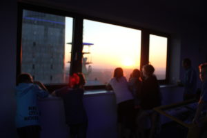 Sonnenuntergang vom Aussichtsturm